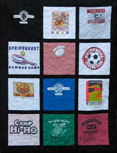 Lisa's T-Shirt Quilt, quilted by Angela Huffman