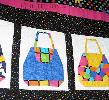 Purses Quilt, quilted by Angela Huffman