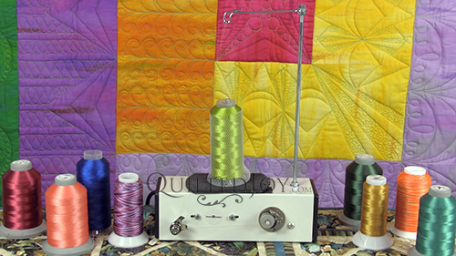 How to use the APQS Turbo Bobbin Winder