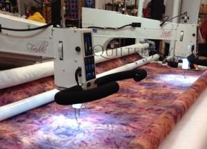 APQS Millie Freddie longarm quilting machine