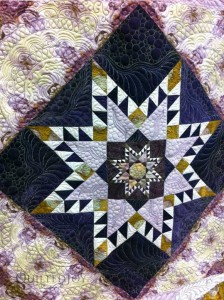 Feathered Star quilt winner