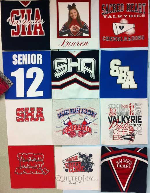 T-shirt quilt mockup