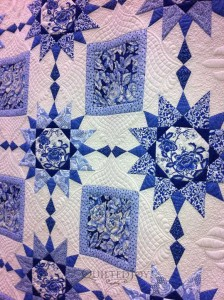 curved crosshatching quilt