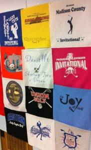 Layout of tshirt quilt