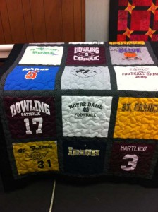 football tshirt quilt