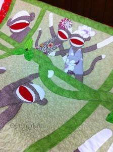 sock monkey quilt