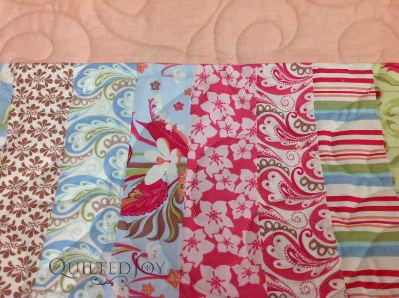 Strip Quilt closeup