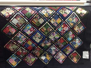 Oriental four patch quilt wide APQS