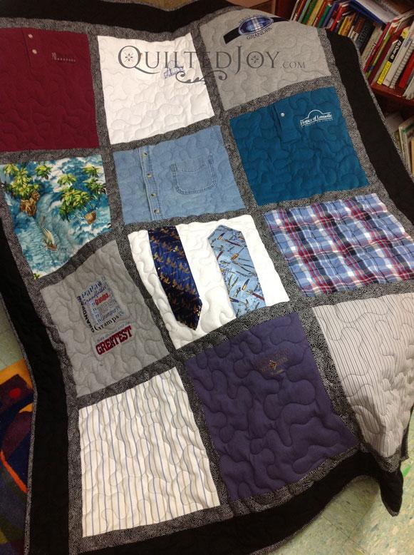 Memorial shirt quilt ties