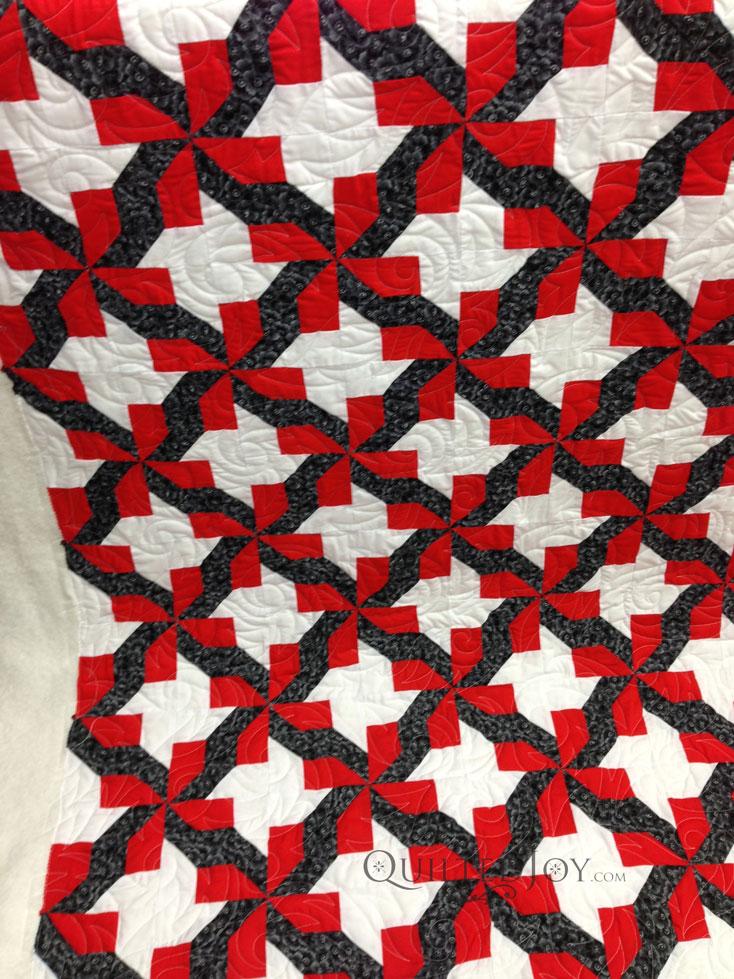 red black quilt