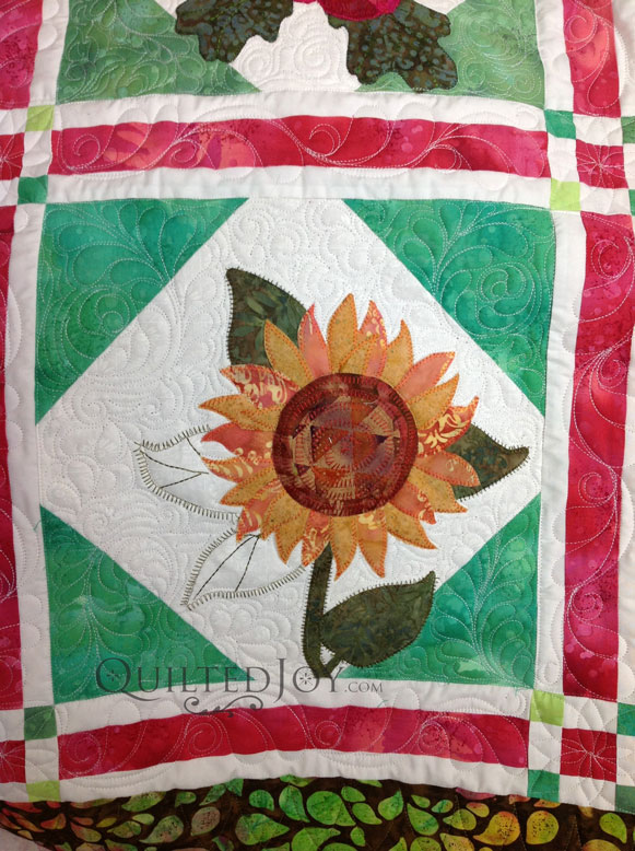 Sunflower Quilt apqs millennium