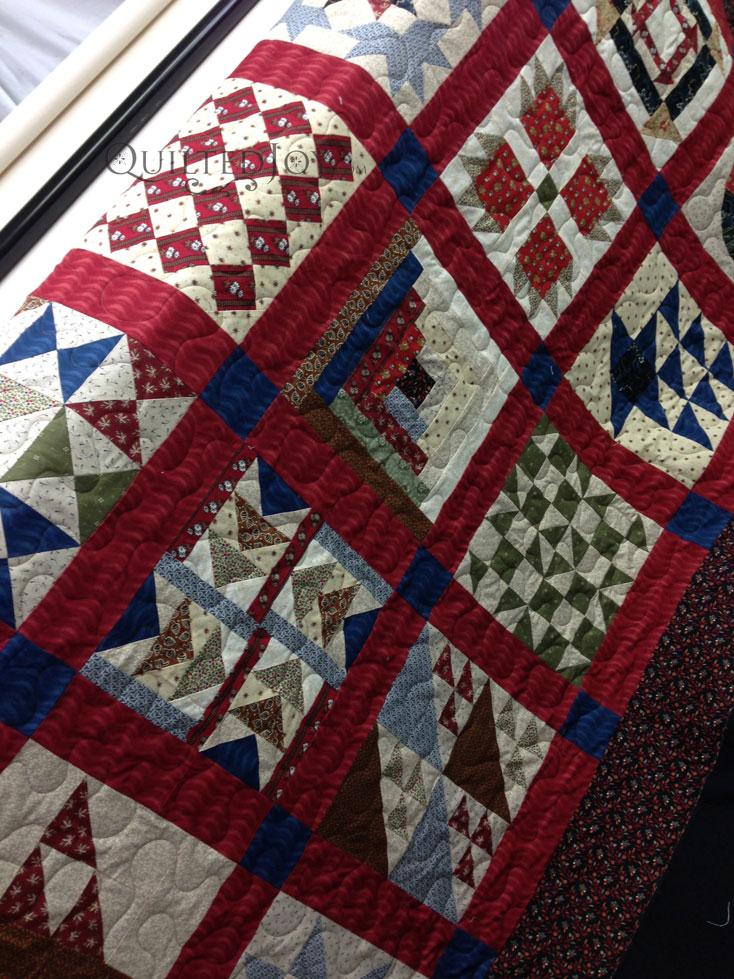 Underground Railroad Quilt on longarm