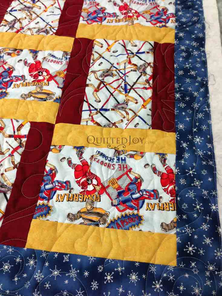 Hockey quilt for baby