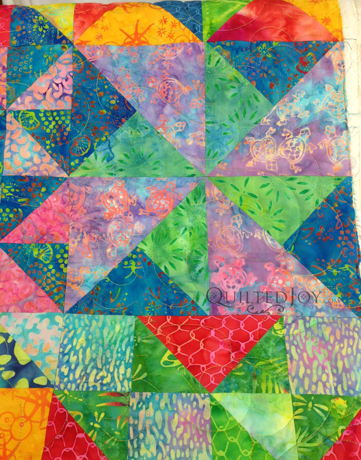 Batik Quilt longarm
