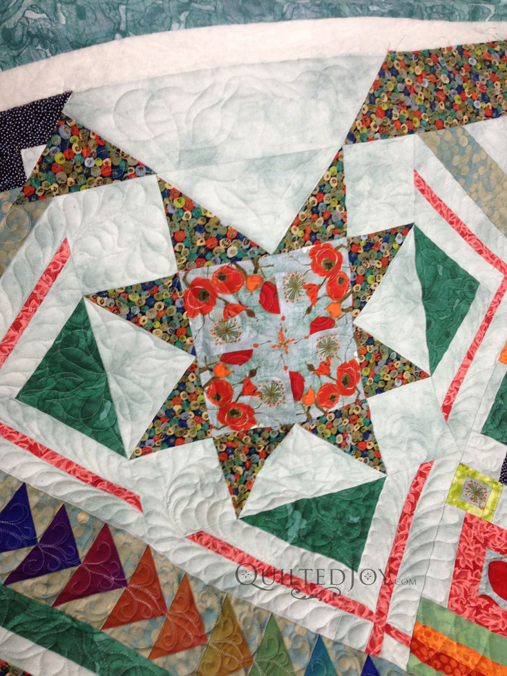 Ohio Star longarm quilting