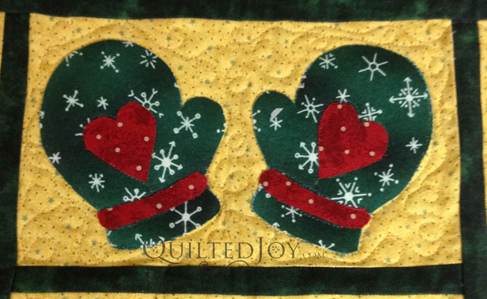 Christmas Quilt longarm