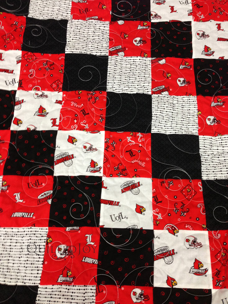 Sports quilt long arm