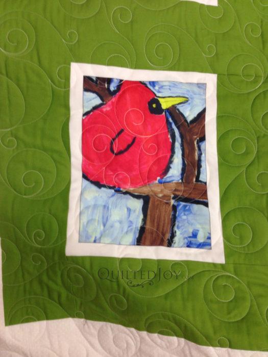 Kid art quilt