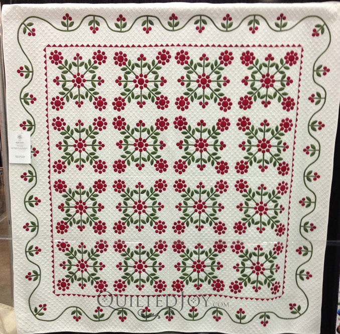 Hand quilted applique