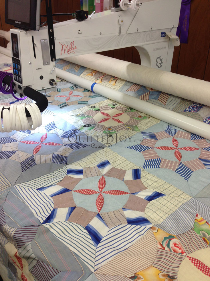 Shirtings Quilt APQS