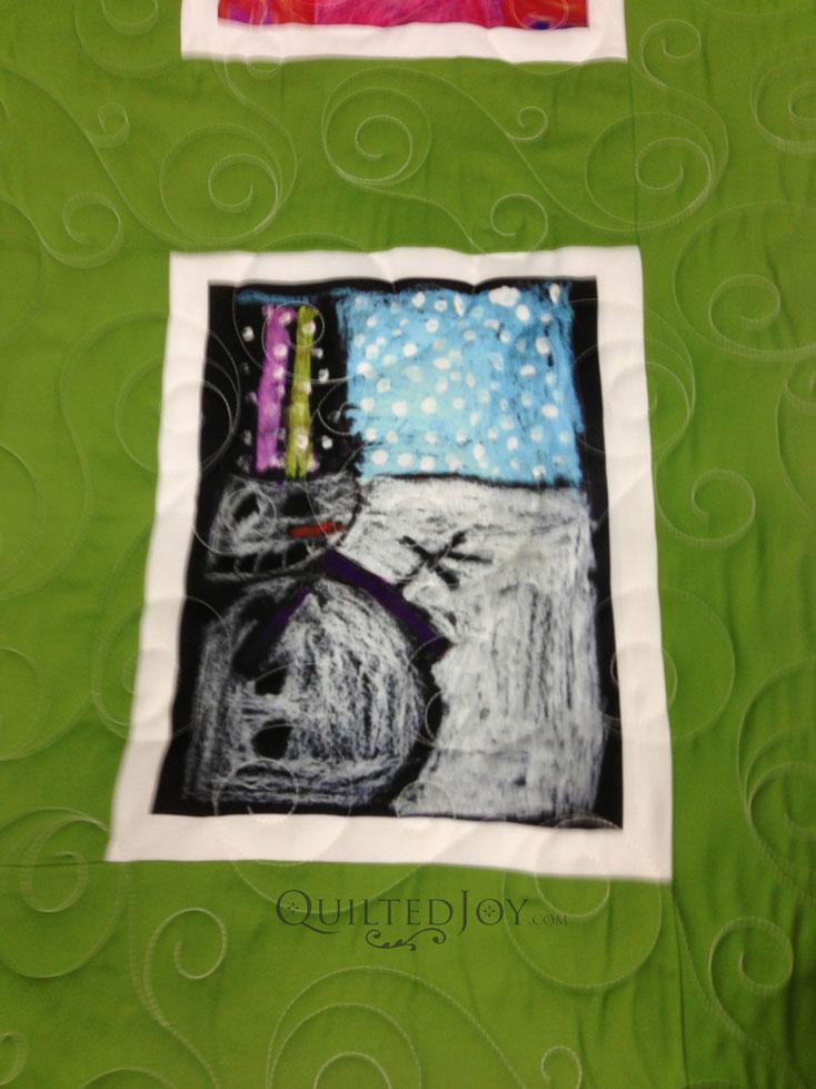 Kid art quilt longarm apqs
