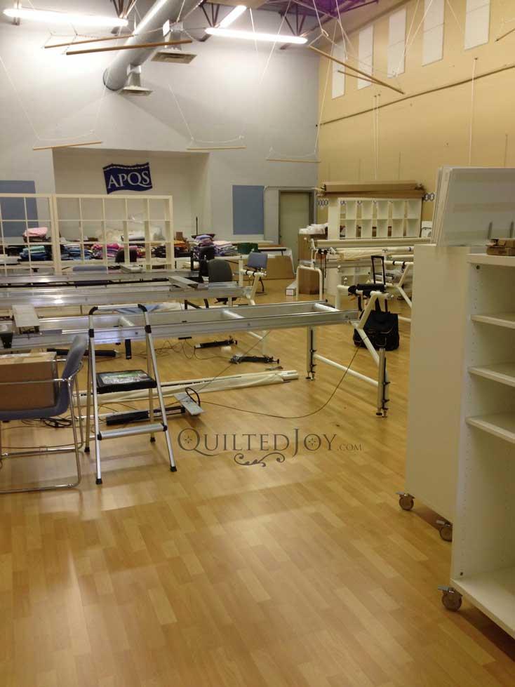 Showroom in progress