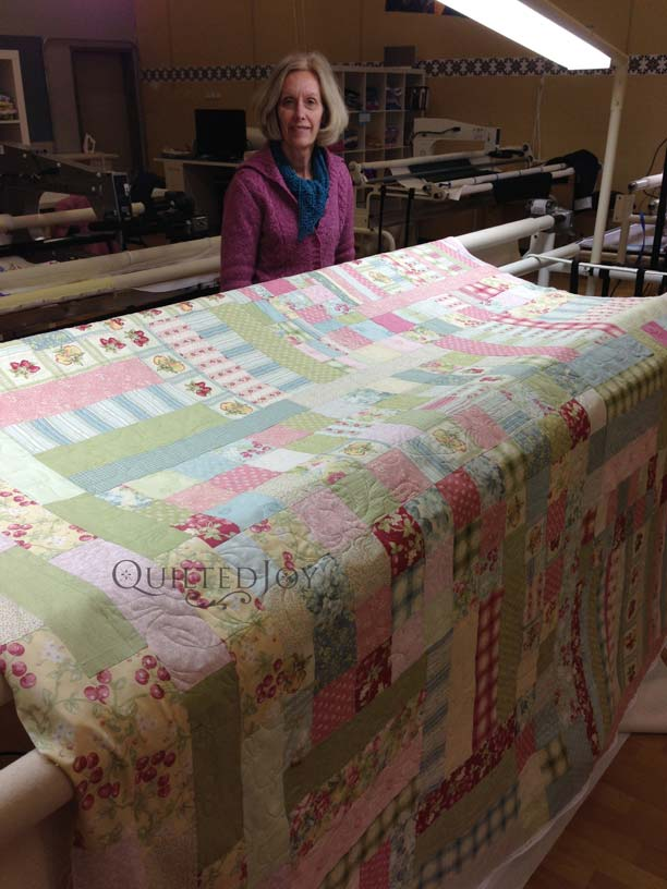 quilt kit on longarm machine