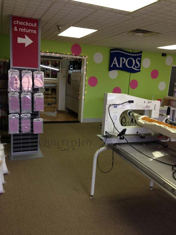 APQS showroom louisville quilting