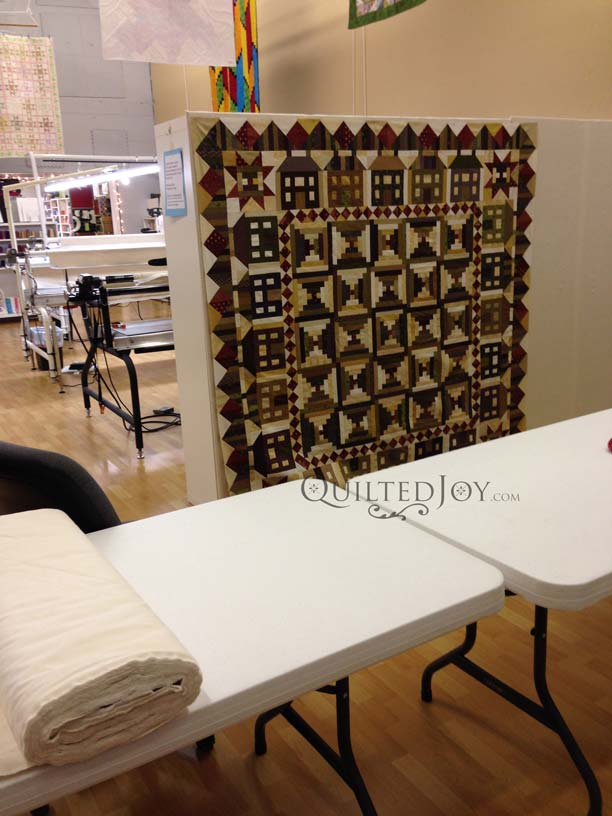 use design wall in quilting studio