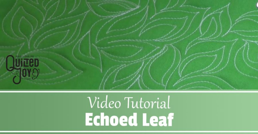 Learn how to quilt the Echoed Leaf Filler in this video tutorial from Angela Huffman