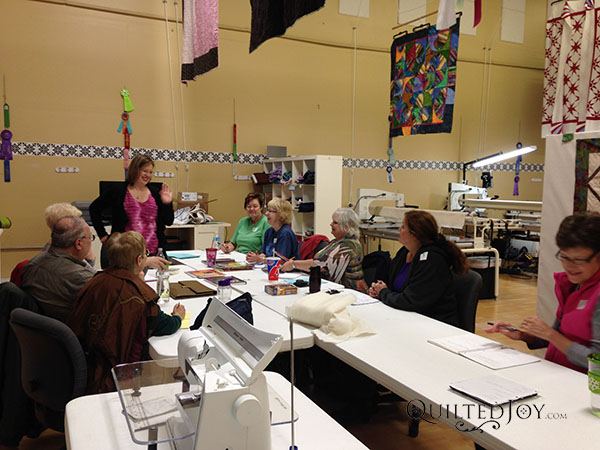 APQS Beginning Longarm Class with instructor Angela Huffman