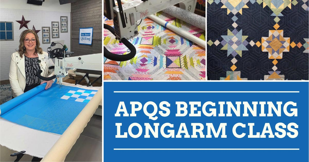 Quilted Joy's APQS Beginning Longarm Class taught by Angela Huffman