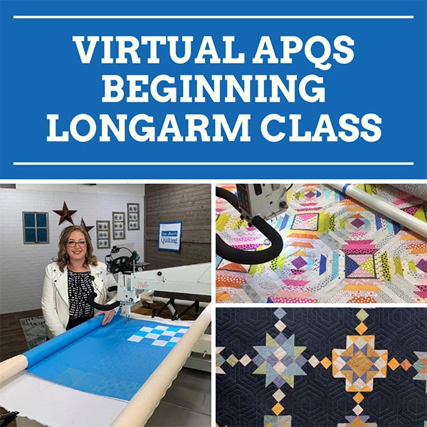 Quilted Joy's Virtual APQS Beginning Longarm Class taught by Angela Huffman live and online!