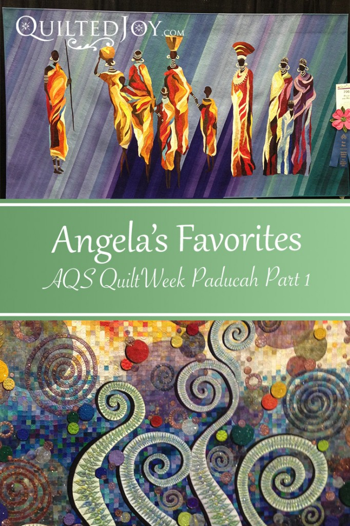 A collection of Angela's Favorite Quilts Displayed at AQS QuiltWeek Paducah 2015