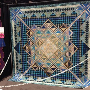 Lady of the Northern Lights by Northern Lights Machine Quilters Guild, at AQS Quilt Week Paducah 2015