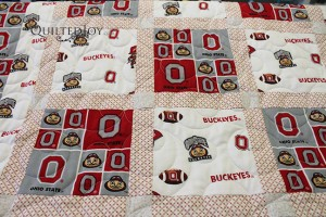 OSU Baby Quilt - quilted by Angela Huffman, Quilted Joy