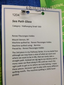 Sea Path Glass, Renee Fleuranges-Valdes