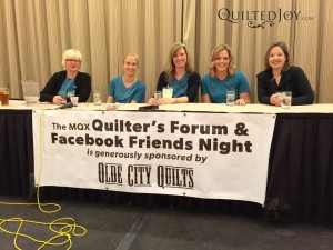 Angela speaking at the Quilter's Forum at MQX East 2015