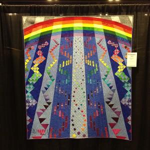 Rainbow Play, by Brenda S. Roach at AQS Quilt Week Paducah 2015