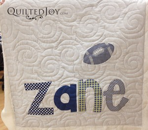 Baby quilt finished at Quilted Joy