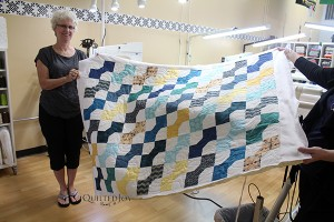 Charlotte's first quilt on the APQS longarm