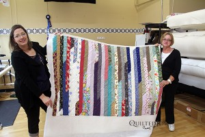 Mary's first quilt on the APQS longarm