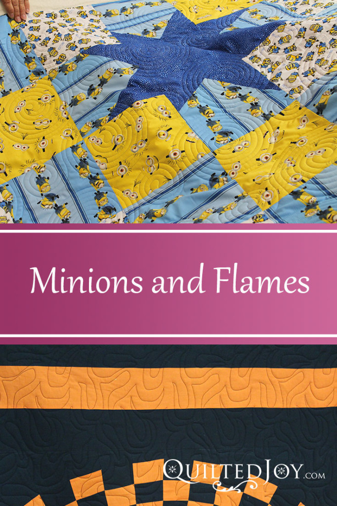Minions and Flames - Renters at QuiltedJoy.com