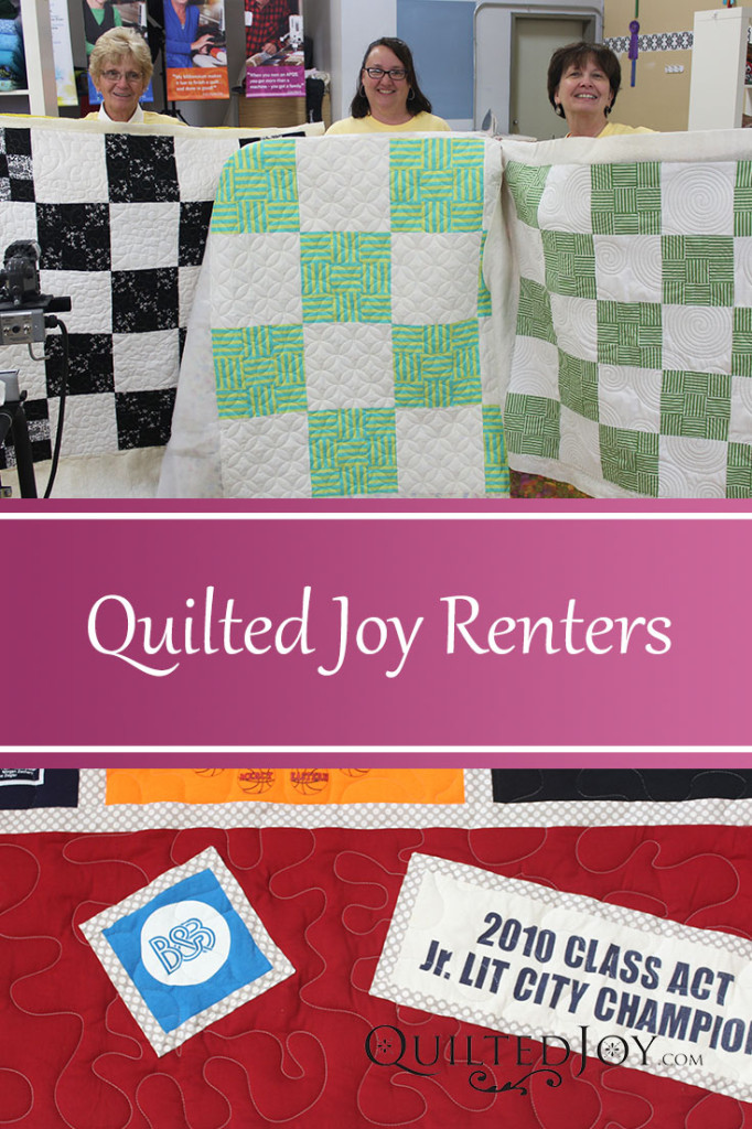 Quilted Joy's Renters from Late June 2015 - QuiltedJoy.com
