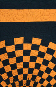 Fantasy Flame Pantograph by Jessica Schick on a Harley Davidson quilt - QuiltedJoy.com
