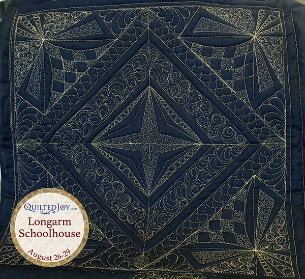Sculpted Quilting, taught by Angela Huffman - QuiltedJoy.com