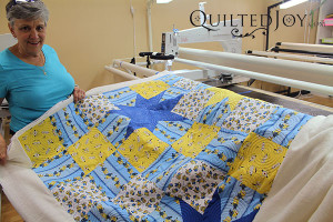 Colleen's Minions Quilt - QuiltedJoy.com