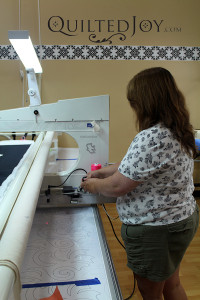 At the APQS Road Show, you can test drive all of the APQS machines - QuiltedJoy.com