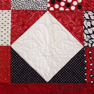 How do you like to quilt the square in a square block? - QuiltedJoy.com