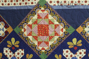 AnnaMaria's beautiful BOM quilt - QuiltedJoy.com
